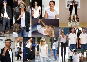 WHITE TEE collage